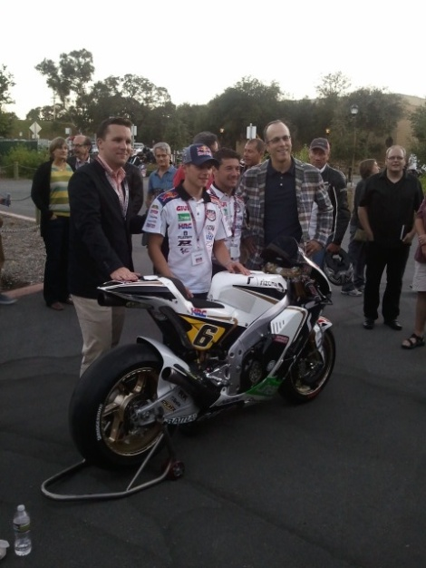 Stefan Bradl and Lucio Cecchinello at Stanford