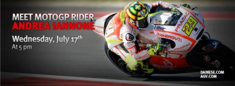 Andrea Iannone at the Dainese D-Store San Francisco